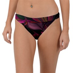 Fractal Abstract Colorful Floral Band Bikini Bottom
