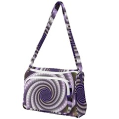 Fractal Strings Pattern Texture Front Pocket Crossbody Bag