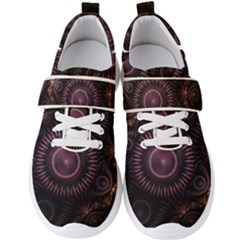 Fractal Gears Steampunk Gearwheel Men s Velcro Strap Shoes by Pakrebo