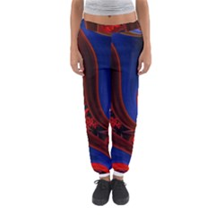 Fractal Abstract Pattern Circles Women s Jogger Sweatpants