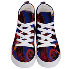 Fractal Abstract Pattern Circles Kids  Hi Top Skate Sneakers