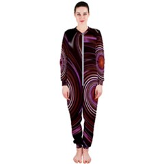 Fractal Waves Pattern Design Onepiece Jumpsuit (ladies)