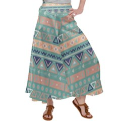 Tribal Satin Palazzo Pants by Sobalvarro