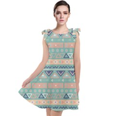 Tribal Tie Up Tunic Dress by Sobalvarro