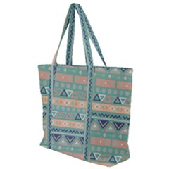Tribal Zip Up Canvas Bag