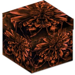 Fractal Painting Flower Texture Storage Stool 12