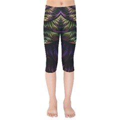 Fractal Colorful Pattern Fantasy Kids  Capri Leggings
