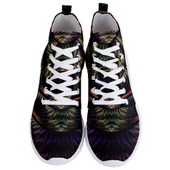 Fractal Colorful Pattern Fantasy Men s Lightweight High Top Sneakers by Pakrebo