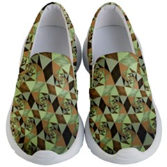 Fractal Mosaic Abstract Fractal Art Kids  Lightweight Slip Ons by Pakrebo