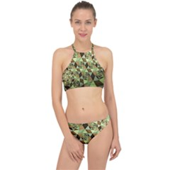 Fractal Mosaic Abstract Fractal Art Racer Front Bikini Set