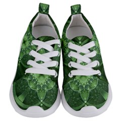 Fractal Green St Patrick S Day Kids  Lightweight Sports Shoes