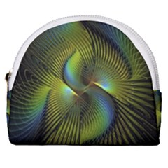 Fractal Abstract Design Fractal Art Horseshoe Style Canvas Pouch