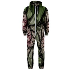 Fractal Flowers Floral Fractal Art Hooded Jumpsuit (men)