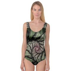 Fractal Flowers Floral Fractal Art Princess Tank Leotard