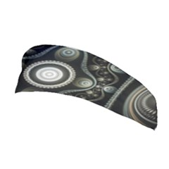 Fractal Beige Blue Abstract Stretchable Headband