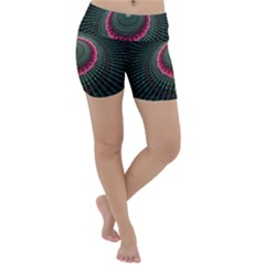 Fractal Circle Fantasy Texture Lightweight Velour Yoga Shorts by Pakrebo