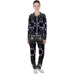 Fractal Design Pattern Texture Casual Jacket And Pants Set