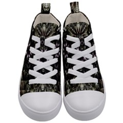 Fractal Design Pattern Texture Kids  Mid Top Canvas Sneakers