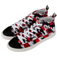 Emo Checker Graffiti Men s Mid Top Canvas Sneakers by ArtistRoseanneJones
