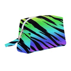 Tiger Rainbow Wristlet Pouch Bag (medium) by ArtistRoseanneJones