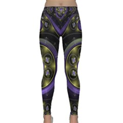 Fractal Sparkling Purple Abstract Classic Yoga Leggings by Pakrebo