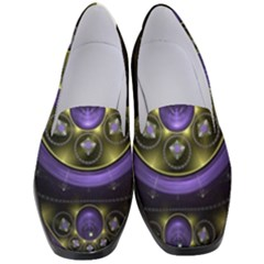 Fractal Sparkling Purple Abstract Women s Classic Loafer Heels by Pakrebo