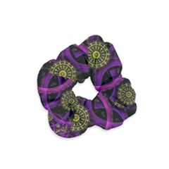 Fractal Neon Rings Geometric Velvet Scrunchie by Pakrebo