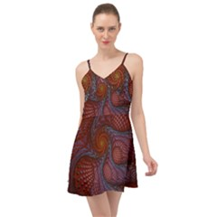 Fractal Red Fractal Art Digital Art Summer Time Chiffon Dress