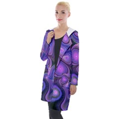 Abstract Pattern Fractal Wallpaper Hooded Pocket Cardigan by Pakrebo
