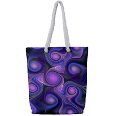 Abstract Pattern Fractal Wallpaper Full Print Rope Handle Tote (small)