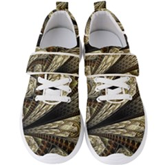 Fractal Abstract Pattern Spiritual Men s Velcro Strap Shoes