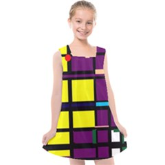 Design Pattern Colors Colorful Kids  Cross Back Dress
