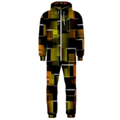 Pattern Wallpaper Background Hooded Jumpsuit (men)