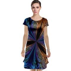 Abstract Background Kaleidoscope Cap Sleeve Nightdress