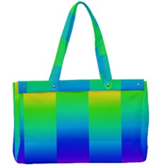 Rainbow Colour Bright Background Canvas Work Bag