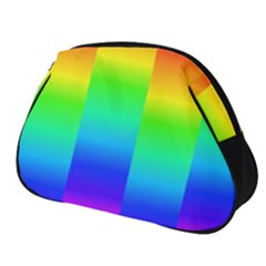 Rainbow Colour Bright Background Full Print Accessory Pouch (small)