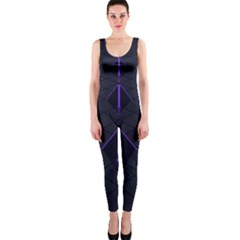 Futuristic Pyramids Perspective One Piece Catsuit