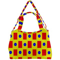 Pattern Design Backdrop Red Blue Yellow Double Compartment Shoulder Bag by Pakrebo