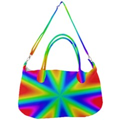 Rainbow Colour Bright Background Removal Strap Handbag