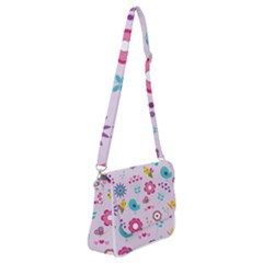 Birds Floral Flowers Retro Spring Shoulder Bag With Back Zipper
