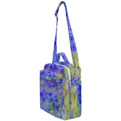 Abstract Blue Crossbody Day Bag