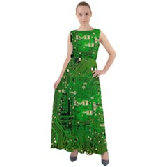 Background Green Board Business Chiffon Mesh Maxi Dress
