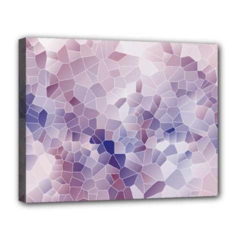 Americana Abstract Graphic Mosaic Canvas 14  X 11  (stretched)