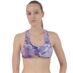 Americana Abstract Graphic Mosaic Criss Cross Racerback Sports Bra by Pakrebo