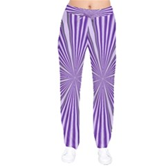 Background Abstract Purple Design Velvet Drawstring Pants