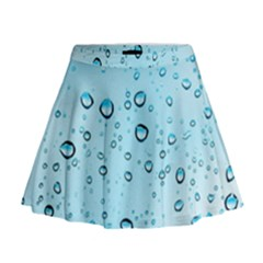 Drops Water Pane Rain Glass Mini Flare Skirt