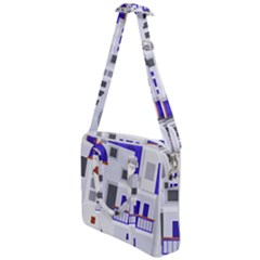 Background Santorini Greece Cross Body Office Bag by Pakrebo