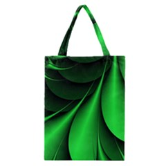 Green Line Lines Background Classic Tote Bag