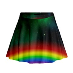 Galaxy Rainbow Universe Star Space Mini Flare Skirt