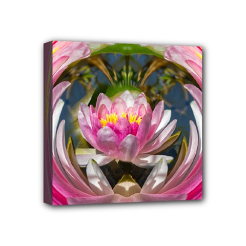 Flower Ornament Color Background Mini Canvas 4  X 4  (stretched) by Pakrebo